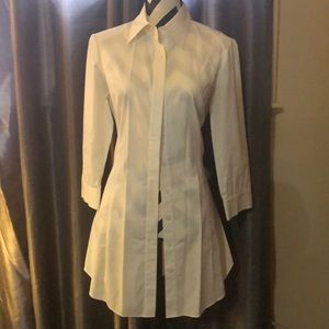 Lafayette 148 white button down size 6